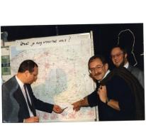 Oud leiders, feest 50 jaar chiro, Melle, 1989.