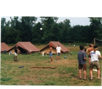 Volleybal op kamp, Opont, 1999.