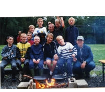 Groepsfoto van de speelclub, Berlare, 2000.