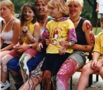 Body painting, Berlare, 2000.