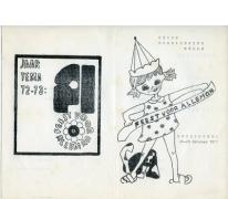 Programma groepsfeest chirojongens, Melle, 1972