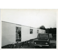Bouw meisjeslokalen chiro, Melle, jaren 1970
