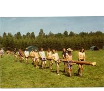Aanleveren vlaggenmast kamp chiro Melle, Willerzie, 1974