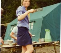 Verkleed als chiromeisje, Willerzie, 1974