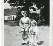 Luc Coppen in processie, Oosterzele, 1948-1950