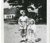 Luc Coppen in processie, Oosterzele, 1948-1950