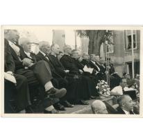 Eretribune aanstelling deken Rijckaert, Oosterzele, 1959