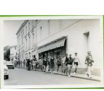 E.H. Callebaut met chirojongens in Lourdes, 1979