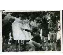 Kaartlezen, fietstocht Frankrijk, 1979