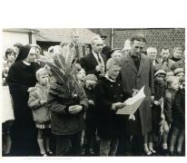 25 jaar burgemeester Jean Van de Velde, huldebrief, Landskouter, 1964
