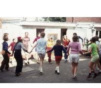 Chiro Melle Geertrui. De waterdans in de straten van Louise-Marie, 1972.