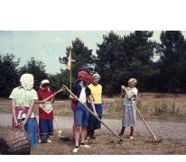 Chiro Melle Geertrui. Uitbeelden van Breughel schilderijen. Kamp Geel, 1967.