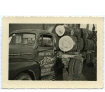 Houtzagerij D'Hont, eerste vrachtwagen, Landskouter