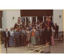 Groepsfoto inhuldiging Sooike, Destelbergen, 1976