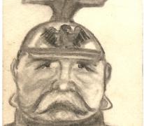 Karikatuur graaf van Zeppelin, 1914