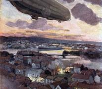 Zeppelin boven Lüttich