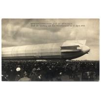 Zeppelin voor passagiervervoer in München, 1909.