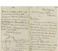 Brief van Patrick uit Cuffley, 1915