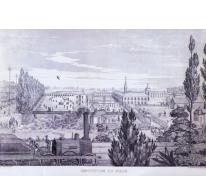 Zicht op Melse college van paters Jozefieten, 19e eeuw, Melle