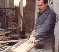 Pijlenmaker Antoine Gyselinck aan het werk, Melle, 1960-1983