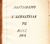 Schriftje van de schuttersmaatschappij Sint-Sebastiaan, 1904, Melle