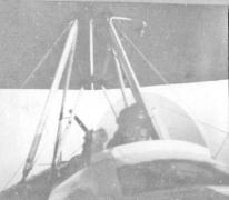 Piloot Radke, van de Staffel 13 in volle vlucht, 1917