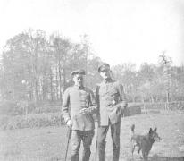 Vliegeniers Stohr en Goldberg van Staffel 13, Sint-Denijs-Westrem, 1917.
