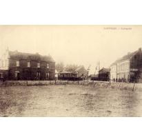 Het stationsplein van Gontrode, eind 19de eeuw
