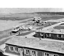 Barakken op het vliegveld van Gontrode, 1917
