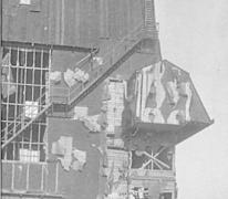 De hal van Gontrode bedekt met teerpapier, 1915