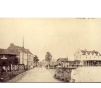 Het oude station van Gontrode, eind 19de eeuw.