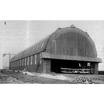 Hangar in Gontrode met vliegtuigen, 1917.
