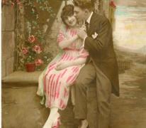 Briefkaart naar vriendin, Landskouter, 1922