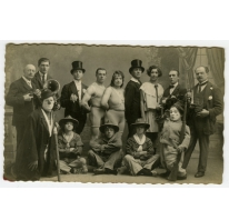 Artiesten en muzikanten Circus Tondeurs, Sint-Lievens-Houtem, 1925