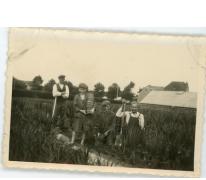 André Pieters tussen de draecena's, Melle, jaren 1930