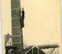 André Pieters op de schouw, Melle, 1943-1944