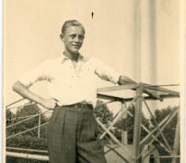 André Pieters met een gietmolen, Melle, 1936-1937