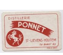 Reclameprentje distillerie Ponnet, Sint-Lievens-Houtem, 1930-1950