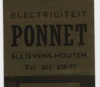 Label elektrowinkel Ponnet, Sint-Lievens-Houtem, 1969-1978