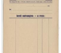Ontvangstbewijs Distillerie Ponnet, Sint-Lievens-Houtem, 1930-1969