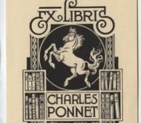 Ex-libris Charles Ponnet, Sint-Lievens-Houtem, 1945-1946