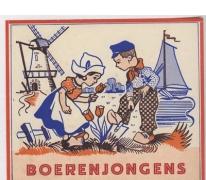 Etiket 'Boerenjongens' en 'Boerenmeisjes', Sint-Lievens-Houtem, 1923-1969