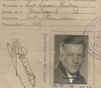 Rijbewijs Charles Ponnet, Sint-Lievens-Houtem, 1945