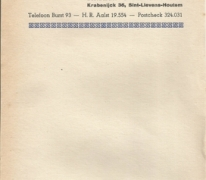Briefpapier cinema Orly, Sint-Lievens-Houtem, 1960-1969