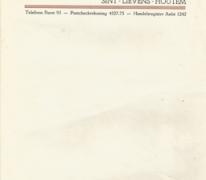 Briefpapier stokerij Ponnet, Sint-Lievens-Houtem, 1930-1974
