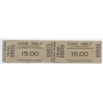 Toegangskaart cinema Orly, Sint-Lievens-Houtem, 1960-1969