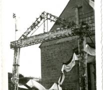 Feestelijkheden ter ere van E.H. Richard De Moor die ingehuldigd werd als pastoor, Bavegem, 1933