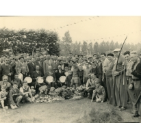 Groepsfoto schuttersmaatschappij, Lochristi, 1952