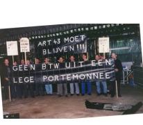 Protest van bloemisten, Lochristi, 1990