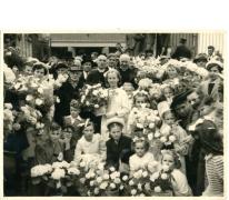 Zilveren priesterjubileum van pastoor Buckens, Letterhoutem, 1951